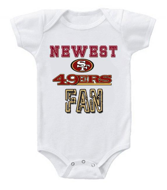 Cute Funny Baby Bodysuits Creeper Football NFL San Francisco 49ers