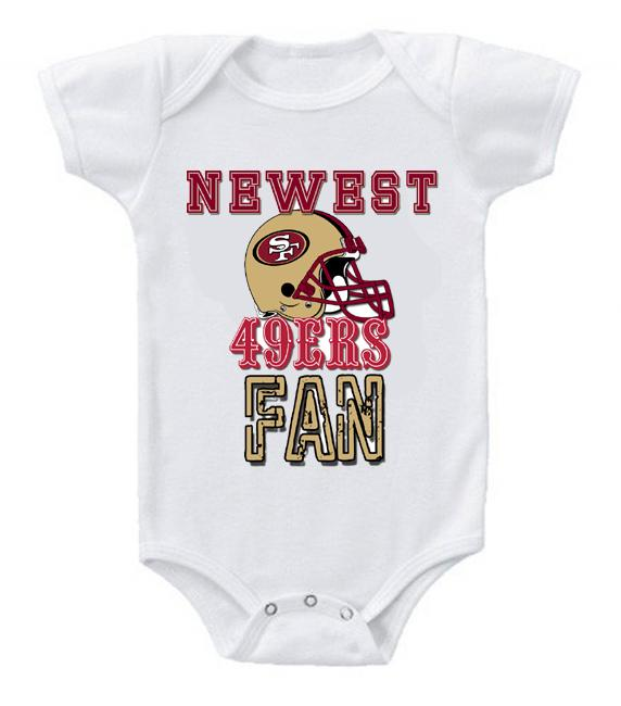 Cute Funny Baby Bodysuits Creeper Football NFL San Francisco 49ers #2