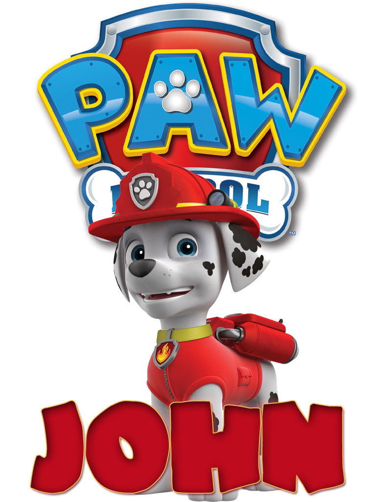 Personalized Paw Patrol Marshall T-shirt With Name Tee Shirt NEW Great Gift!