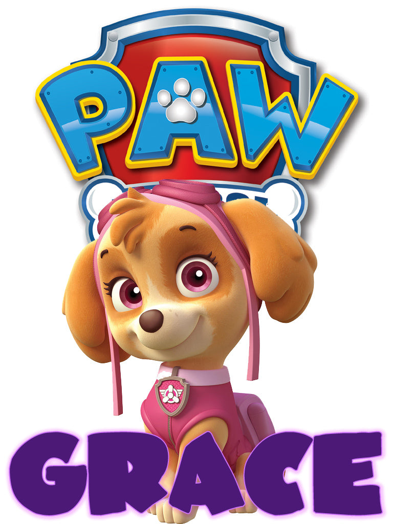 Personalized Paw Patrol Skye T-shirt With Name Tee Shirt NEW Great Gift!