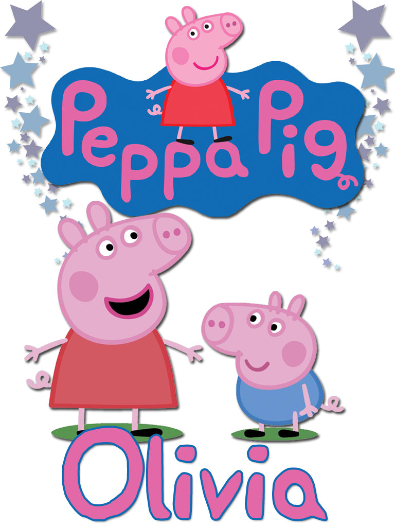 Personalized Peppa Pig T-shirt With Name Tee Shirt NEW Great Gift!