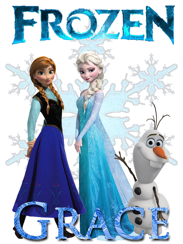 Personalized Disney Frozen Movie T-shirt With Name Tee Shirt NEW Great Gift! #2