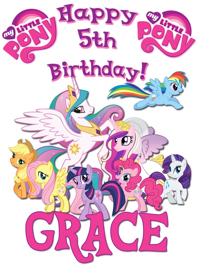 Personalized Custom My Little Pony Birthday Shirt T-shirt Very Cute! #2