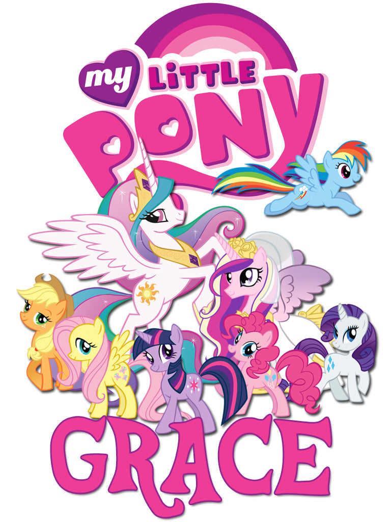 Personalized My LIttle Pony T-shirt With Name Tee Shirt NEW Great Gift!