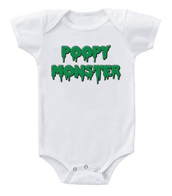 Very Cute Funny Baby Bodysuits Creeper Poopy Monster