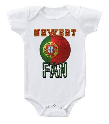 Cute Funny Baby Bodysuits Creeper World Cup Soccer Portugal Newest Fan