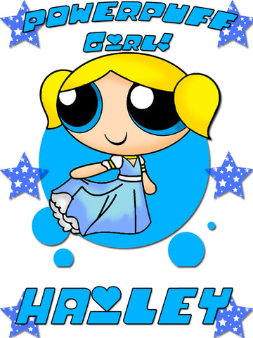 Personalized Powerpuff Girls Bubbles T-shirt With Name Tee Shirt NEW Great Gift!