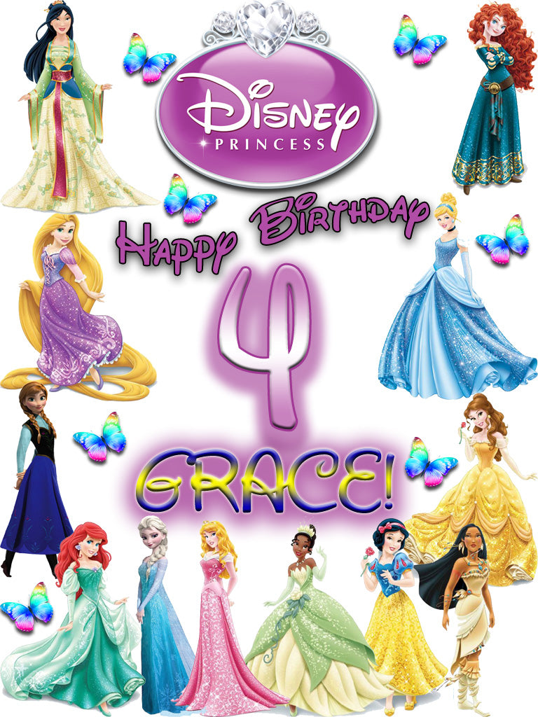 Personalized Custom Disney Princess Birthday Shirt T-shirt Very Cute! #2