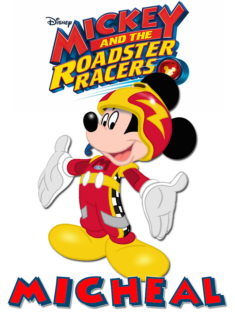 Personalized Disney Mickey Mouse Roadster Racing T-shirt Mickey #2