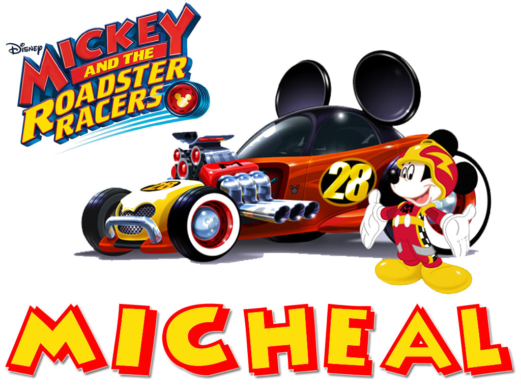 Personalized Disney Mickey Mouse Roadster Racing T-shirt Mickey #5