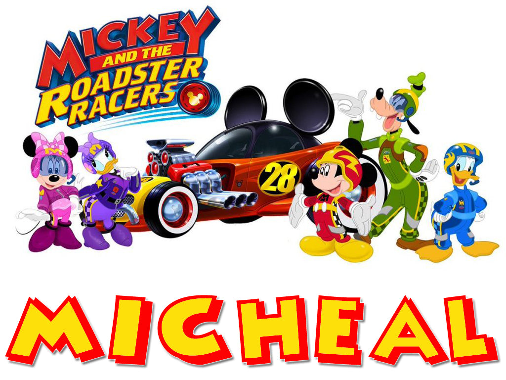 Personalized Disney Mickey Mouse Roadster Racing T-shirt Everyone #3