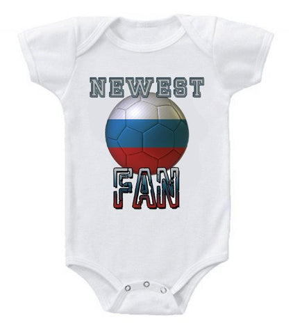Cute Funny Baby Bodysuits Creeper World Cup Soccer Russia Newest Fan