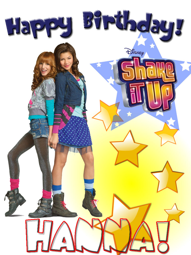 Personalized Custom Disney Shake It Up Birthday Shirt T-shirt Very Cute!