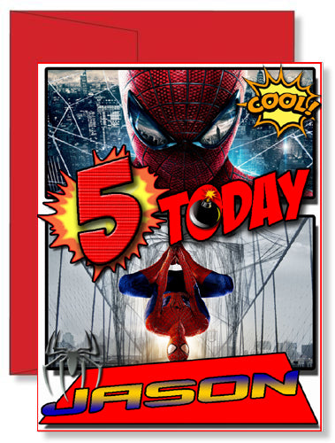 Personalized Birthday Greeting Card Spider-man
