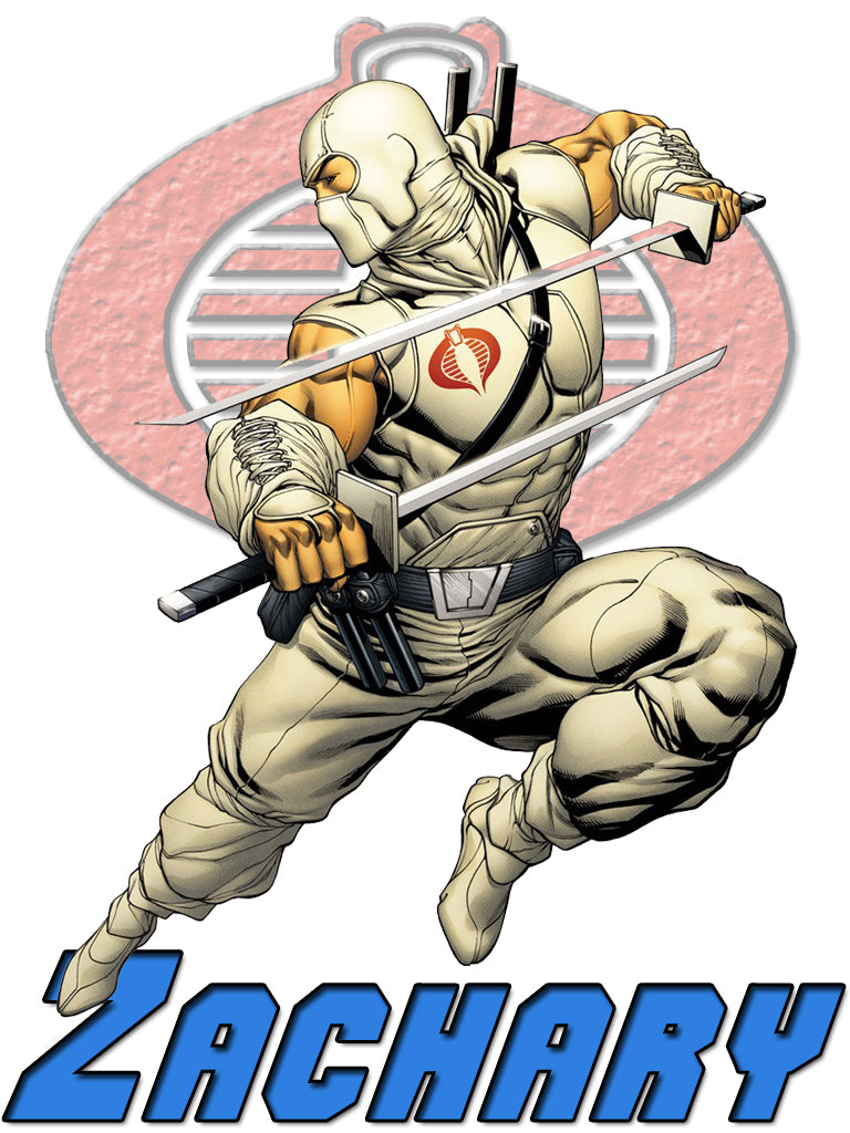 Personalized GI Joe Storm Shadow T-shirt With Name Tee Shirt NEW Great Gift! #2