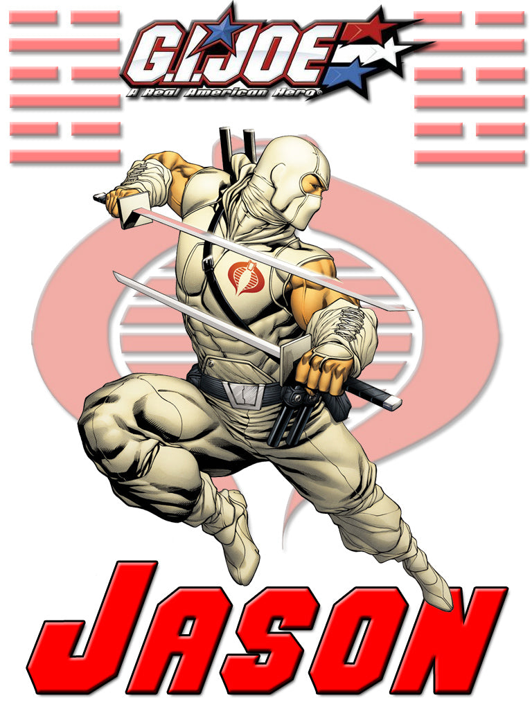 Personalized GI Joe Storm Shadow T-shirt With Name Tee Shirt NEW Great Gift!