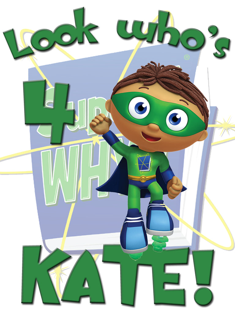 Personalized Custom Super Why Birthday Shirt T-shirt Whyatt Very Cute!