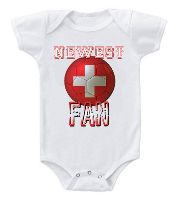 Cute Funny Baby Bodysuits Creeper World Cup Soccer Switzerland Newest Fan