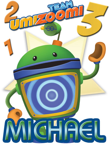 Personalized Team Umizoomi Bot T-shirt With Name Tee Shirt NEW Great Gift!