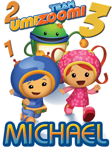 Personalized Team Umizoomi Everyone T-shirt With Name Tee Shirt NEW Great Gift!