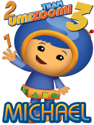 Personalized Team Umizoomi Geo T-shirt With Name Tee Shirt NEW Great Gift!