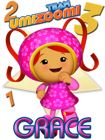 Personalized Team Umizoomi Milli T-shirt With Name Tee Shirt NEW Great Gift!