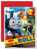 Personalized Birthday Greeting Card Thomas the Train