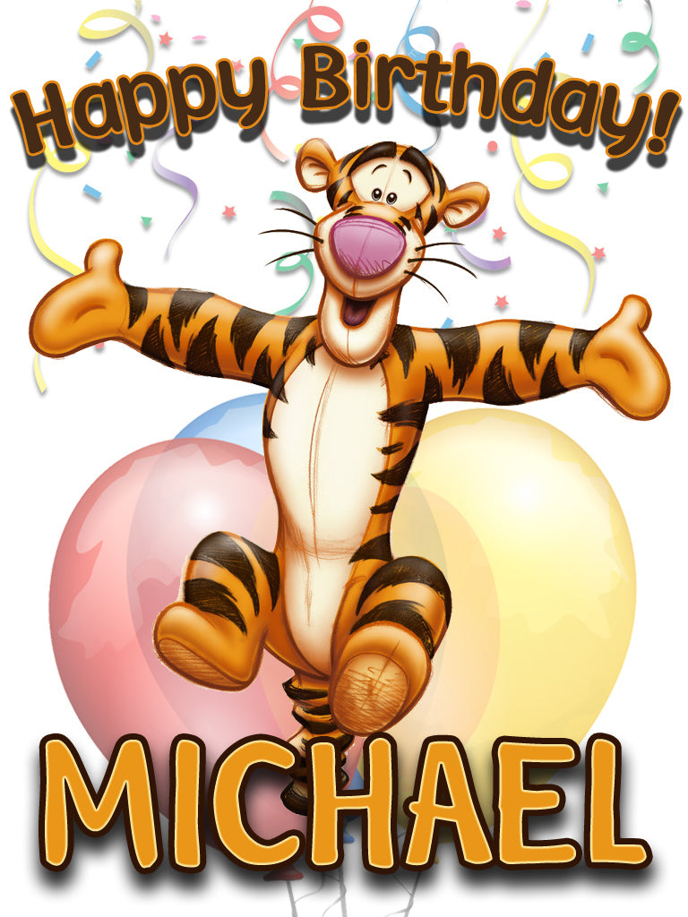 Personalized Custom Winnie the Pooh Tigger Birthday Shirt T-shirt Very Cute!