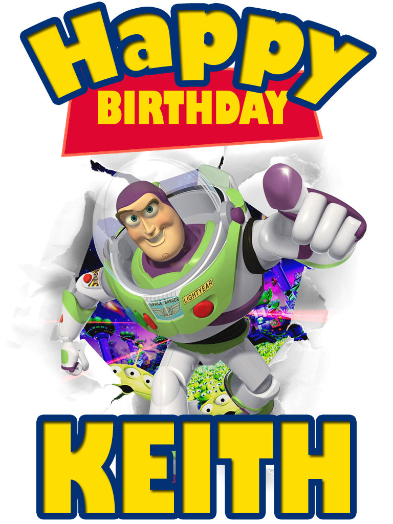 Personalized Disney Toy Story Birthday Shirt T-shirt Buzz Lightyear Great Gift!
