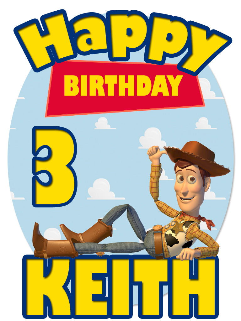 Personalized Custom Disney Toy Story Birthday Shirt T-shirt Woody Great Gift!
