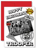 Personalized Birthday Greeting Card Transformers Star Wars Stormtrooper