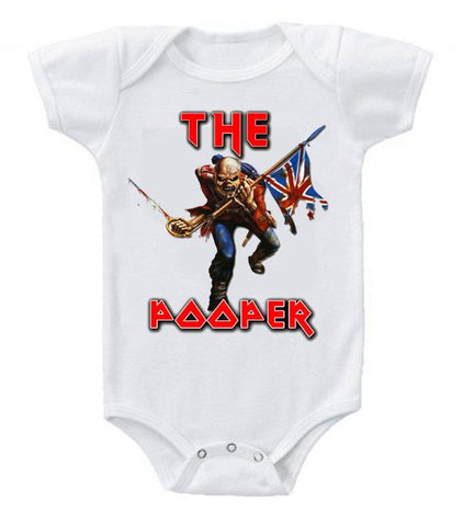 Very Cute Funny Baby Bodysuits Creeper Iron Maiden The Pooper