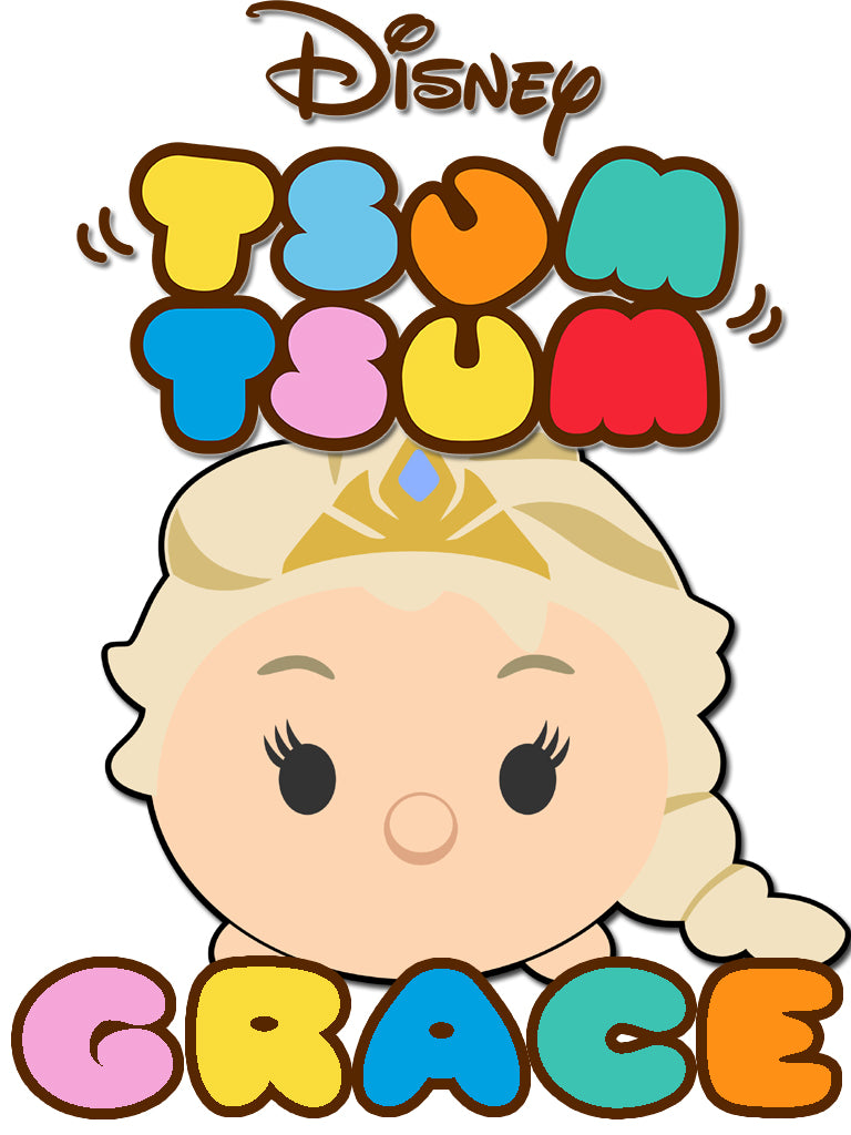 Personalized Disney Tsum Tsum T-shirt with Name Elsa Frozen