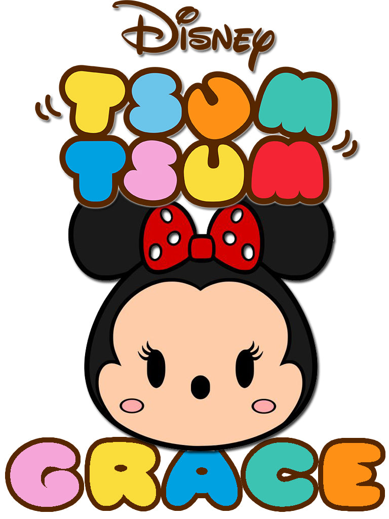 Personalized Disney Tsum Tsum T-shirt with Name Minnie Mouse