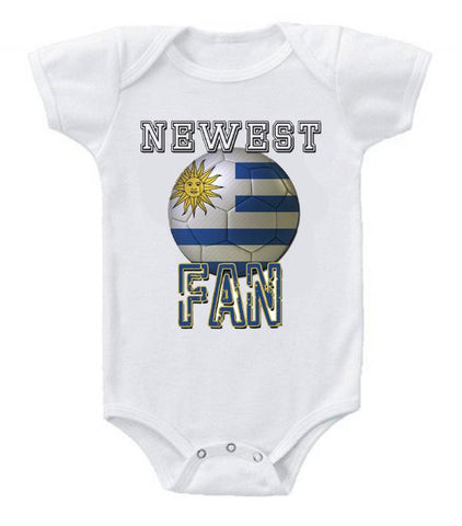 Cute Funny Baby Bodysuits Creeper World Cup Soccer Uruguay Newest Fan