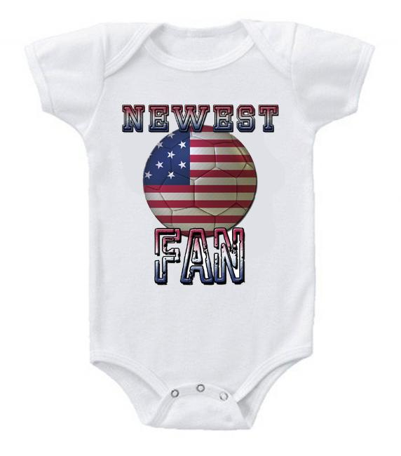 Cute Funny Baby Bodysuits Creeper World Cup Soccer USA America Newest Fan