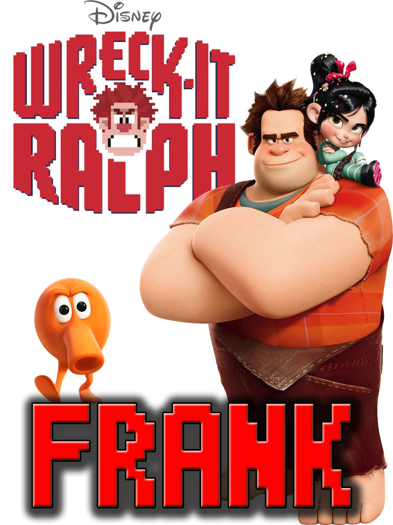 Personalized Disney Wreck it Ralph T-shirt With Name Tee Shirt NEW Great Gift! #2