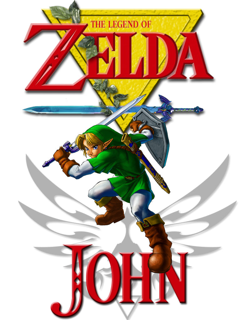 Personalized Legend of Zelda T-shirt With Name Tee Shirt NEW Great Gift!