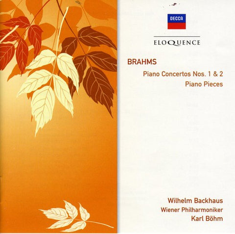 Wilhelm Backhaus - Brahms: Pno Ctos Nos 1 & 2 /  Pno Pieces -  (CD)