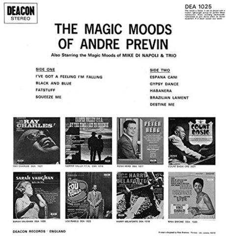 Andre Previn - (2 LP) In A Popular Mood (Emily) -  (Vinyl)