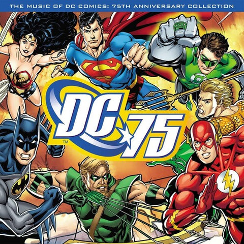 Various Artists - DC 75: The Music of DC Comics: 75th Anniversary Collection [Import] - (Limited Edition, 180 Gram Vinyl, Colored Vinyl, Blue, Poster) (Vinyl)