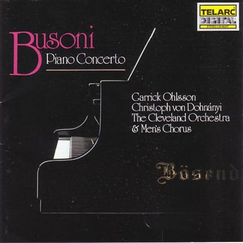 F. Busoni - Piano Concerto -  (CD)
