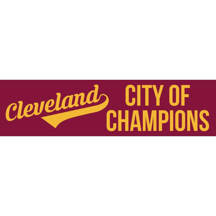 Cleveland - City Of Champions Bumper Sticker, 2 Pack