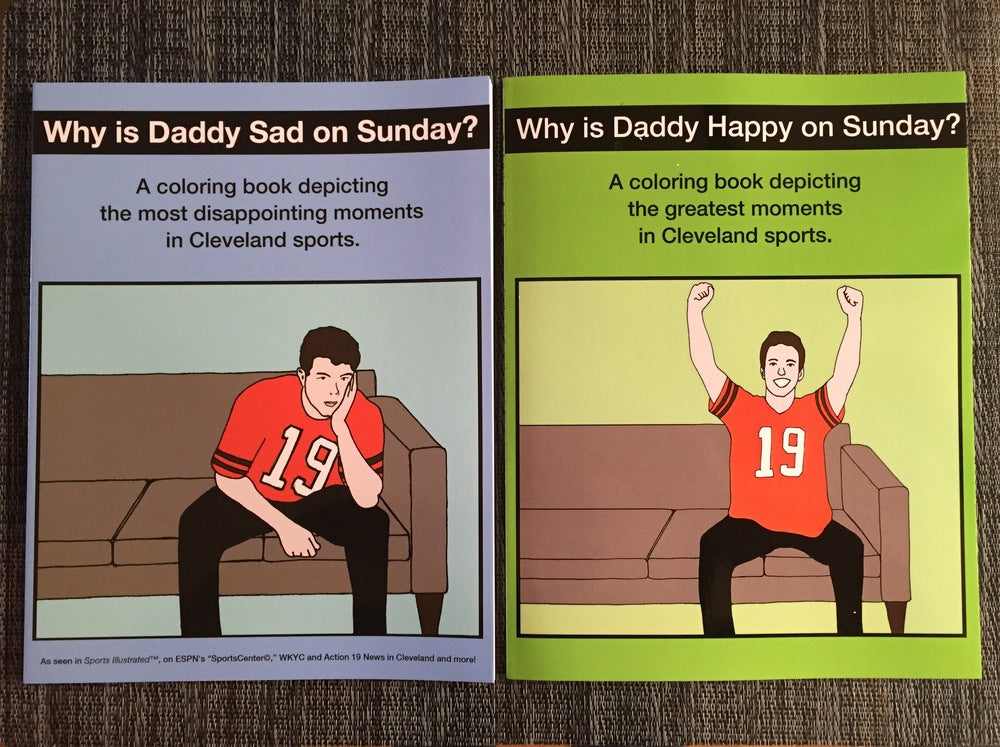 Why Is Daddy Sad/Happy Coloring Book Combo Pack #1