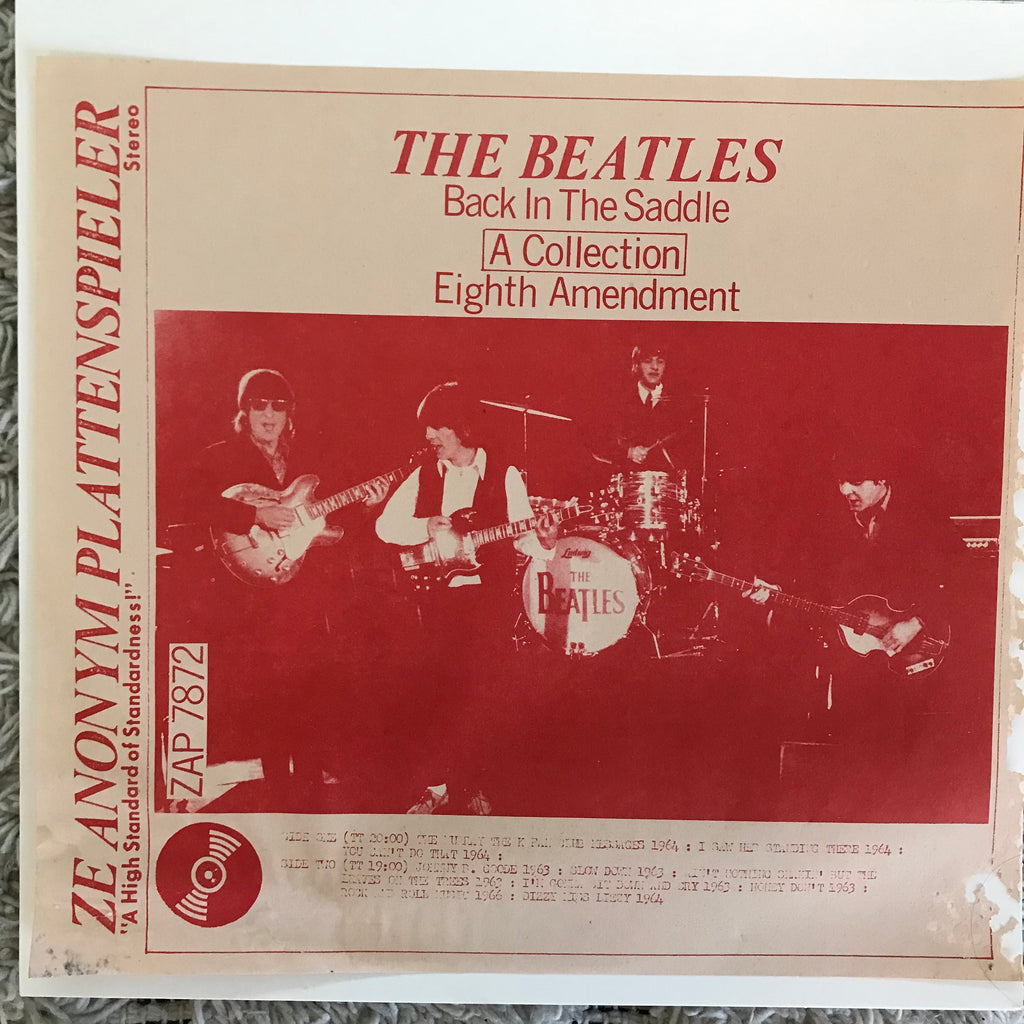 Beatles - Back In The Saddle, Eighth Amendment (LP, Unofficial)