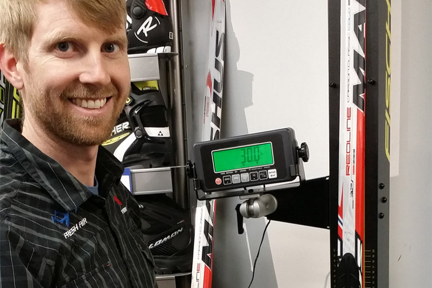 get your nordic xc skis camber tested with Chris