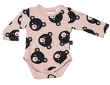 Huxbaby - falling bears design in tan