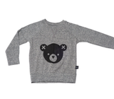 Huxbaby Grey Bear jumper