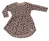 Huxbaby Dress - Tan Spot