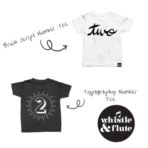 Whistle and Flute- Minimacko - Birthday Number T'shirts